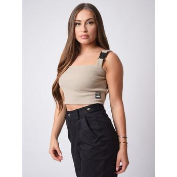 Υφασμάτινα Γυναίκα Αμάνικα / T-shirts χωρίς μανίκια Project X Paris  Beige