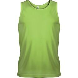 Υφασμάτινα Άνδρας Αμάνικα / T-shirts χωρίς μανίκια Proact Débardeur  Sport vert fluo