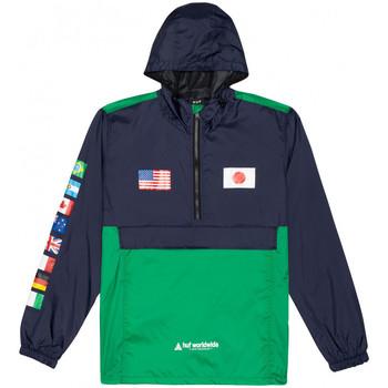 Υφασμάτινα Άνδρας Αντιανεμικά Huf Jacket flags anorak Μπλέ