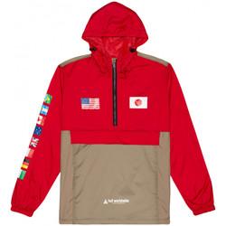 Υφασμάτινα Άνδρας Αντιανεμικά Huf Jacket flags anorak Κόκκινο