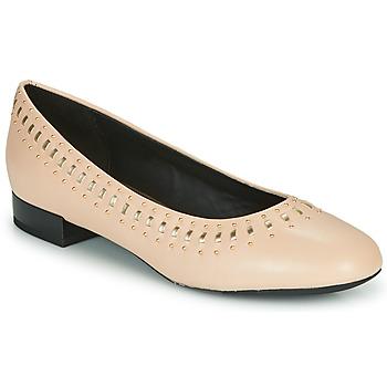 Παπούτσια Γυναίκα Μπαλαρίνες Geox D WISTREY Ροζ / Gold