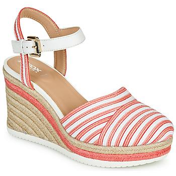 Παπούτσια Γυναίκα Σανδάλια / Πέδιλα Geox D PONZA Red / Άσπρο