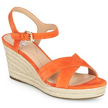 Παπούτσια Γυναίκα Χαμηλά Sneakers Geox D SOLEIL Orange
