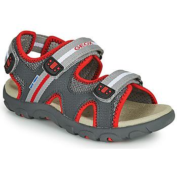 Παπούτσια Αγόρι Σανδάλια / Πέδιλα Geox JR SANDALE STRADA Grey / Red