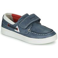 Παπούτσια Αγόρι Μοκασσίνια Geox J DJROCK GARÇON Μπλέ / Άσπρο