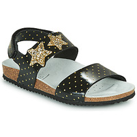 Παπούτσια Κορίτσι Σανδάλια / Πέδιλα Geox J ADRIEL GIRL Black / Gold