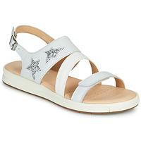 Παπούτσια Κορίτσι Σανδάλια / Πέδιλα Geox J SANDAL REBECCA GIR Άσπρο / Silver