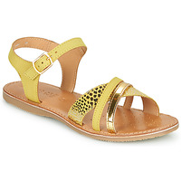 Παπούτσια Σανδάλια / Πέδιλα Geox J SANDAL EOLIE GIRL Yellow / Gold