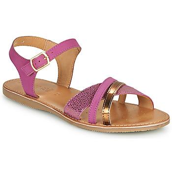 Παπούτσια Σανδάλια / Πέδιλα Geox J SANDAL EOLIE GIRL Ροζ / Gold