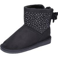 Παπούτσια Κορίτσι Μποτίνια Asso stivaletti camoscio sintetico nero