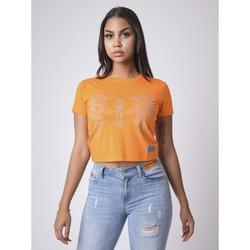 Υφασμάτινα Γυναίκα T-shirt με κοντά μανίκια Project X Paris  Orange