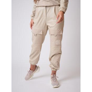 Υφασμάτινα Γυναίκα παντελόνι παραλλαγής Project X Paris  Beige
