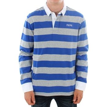 Υφασμάτινα Άνδρας Πόλο με μακριά μανίκια  Pepe jeans FERDINAN PM541219 593 ROYAL BLUE Azul