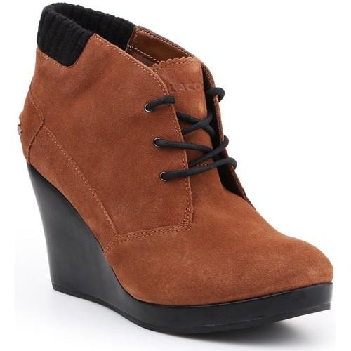 Παπούτσια Γυναίκα Χαμηλές Μπότες Lacoste Leren 7-26SRW4204013 brown