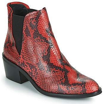 Παπούτσια Γυναίκα Μπότες Fericelli  Black / Red