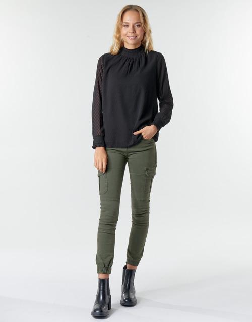 Υφασμάτινα Γυναίκα παντελόνι παραλλαγής Only ONLMISSOURI Kaki