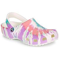 Παπούτσια Γυναίκα Σαμπό Crocs CLASSIC TIE DYE GRAPHIC CLOG Multicolour
