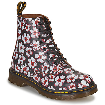 Παπούτσια Γυναίκα Μπότες Dr Martens 1460 PASCAL Black / Άσπρο / Red