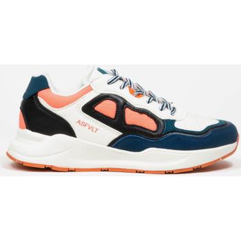 Παπούτσια Γυναίκα Χαμηλά Sneakers Asfvlt Baskets Femme  Concrete blanc/bleu/corail