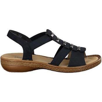 Παπούτσια Γυναίκα Σανδάλια / Πέδιλα Rieker Pazifik Blue Sandals Blue