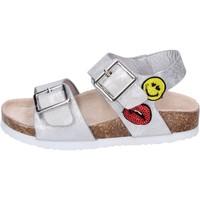 Παπούτσια Κορίτσι Σανδάλια / Πέδιλα Smiley Σανδάλια BK509 Ασήμι