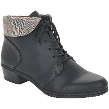 Παπούτσια Γυναίκα Μποτίνια Rieker Fabiola Schwarz Grau-Rost Black