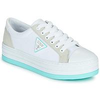 Παπούτσια Γυναίκα Χαμηλά Sneakers Guess BRODEY Άσπρο / Μπλέ