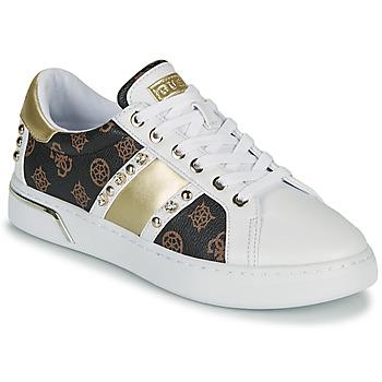 Παπούτσια Γυναίκα Χαμηλά Sneakers Guess RICENA Άσπρο / Brown