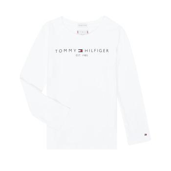 Υφασμάτινα Κορίτσι Μπλουζάκια με μακριά μανίκια Tommy Hilfiger KG0KG05247-YBR-C Άσπρο