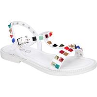 Παπούτσια Κορίτσι Σανδάλια / Πέδιλα Joli Sandali Pelle sintetica Borchie Bianco
