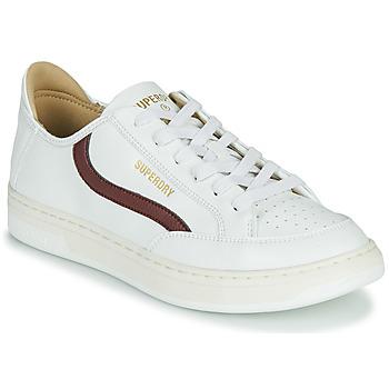 Παπούτσια Άνδρας Χαμηλά Sneakers Superdry BASKET LUX LOW TRAINER Άσπρο
