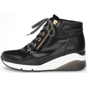 Ψηλά Sneakers Gabor Athen Booties Schwarz