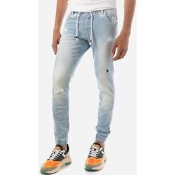 Υφασμάτινα Άνδρας Jeans Brokers ΑΝΔΡΙΚΟ JEAN ΣΤΕΝΟ ΜΕ ΛΑΣΤΙΧΟ Μπλε