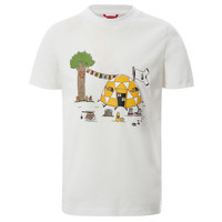 Υφασμάτινα Αγόρι T-shirt με κοντά μανίκια The North Face GRAPHIC TEE Άσπρο