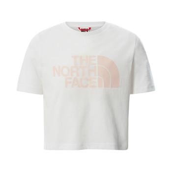Υφασμάτινα Κορίτσι T-shirt με κοντά μανίκια The North Face EASY CROPPED TEE Άσπρο