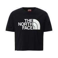 Υφασμάτινα Κορίτσι T-shirt με κοντά μανίκια The North Face EASY CROPPED TEE Black