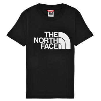 Υφασμάτινα Αγόρι T-shirt με κοντά μανίκια The North Face EASY TEE Black