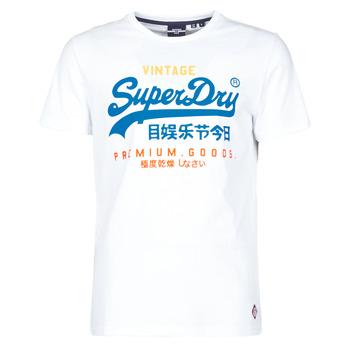 Υφασμάτινα Άνδρας T-shirt με κοντά μανίκια Superdry VL TRI TEE 220 Άσπρο