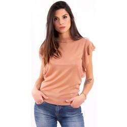 Υφασμάτινα Γυναίκα T-shirt με κοντά μανίκια Fracomina FR20SM806 Αχρωμος