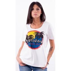 Υφασμάτινα Γυναίκα T-shirt με κοντά μανίκια Persona By Marina Rinaldi VALUTA λευκό
