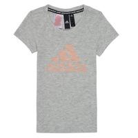 Υφασμάτινα Κορίτσι T-shirt με κοντά μανίκια adidas Performance JG A MHE TEE Άσπρο