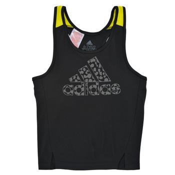 Υφασμάτινα Κορίτσι Αμάνικα / T-shirts χωρίς μανίκια adidas Performance G LEO TK Black