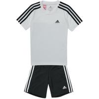 Υφασμάτινα Αγόρι Σετ από φόρμες adidas Performance B 3S T SET Άσπρο / Black