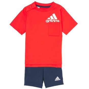Υφασμάτινα Αγόρι Σετ adidas Performance BOS SUM  SET Red / Black