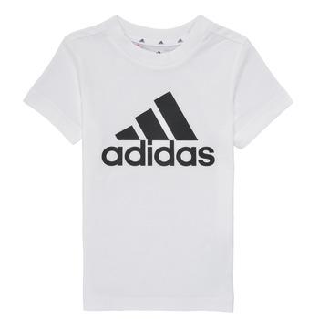 Υφασμάτινα Αγόρι T-shirt με κοντά μανίκια adidas Performance B BL T Άσπρο