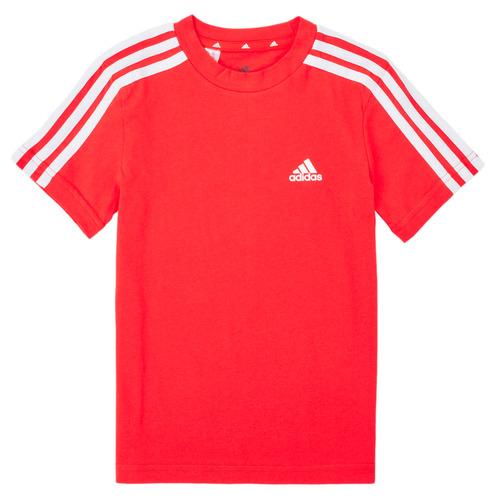 Υφασμάτινα Αγόρι T-shirt με κοντά μανίκια adidas Performance B 3S T Red