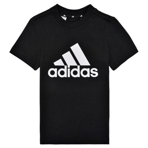 Υφασμάτινα Αγόρι T-shirt με κοντά μανίκια adidas Performance B BL T Black