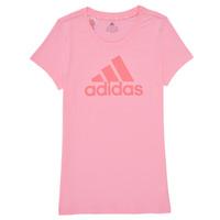 Υφασμάτινα Κορίτσι T-shirt με κοντά μανίκια adidas Performance G BL T Ροζ