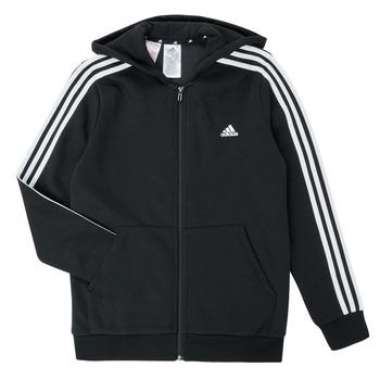 Υφασμάτινα Αγόρι Φούτερ adidas Performance B 3S FZ HD Black