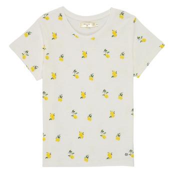 Υφασμάτινα Κορίτσι T-shirt με κοντά μανίκια Deeluxe NADY Άσπρο